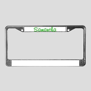 Samantha Glitter Gel License Plate Frame