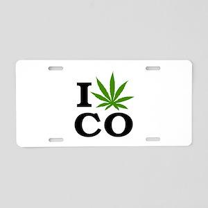 I Love Cannabis Colorado Aluminum License Plate