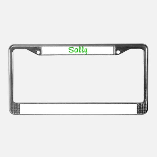 Sally Glitter Gel License Plate Frame