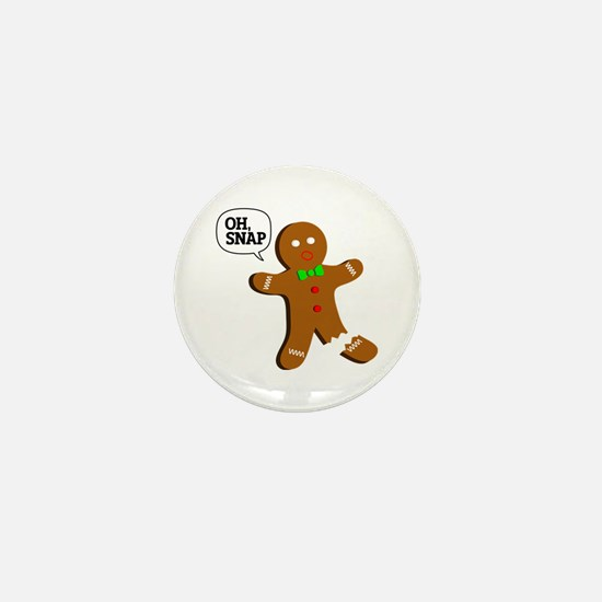 Oh, Snap! Funny Gingerbread Christmas Gift Mini Bu