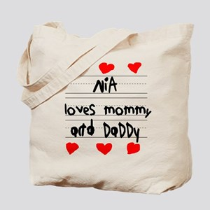 Nia Loves Mommy and Daddy Tote Bag