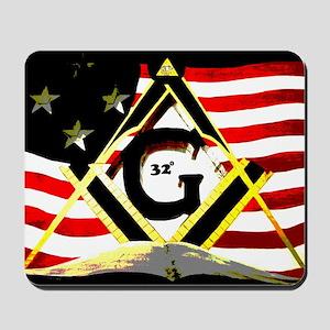 American 32nd Masonic Mousepad