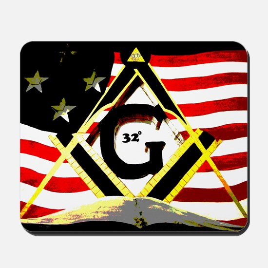 American 32nd Masonic Mousepad
