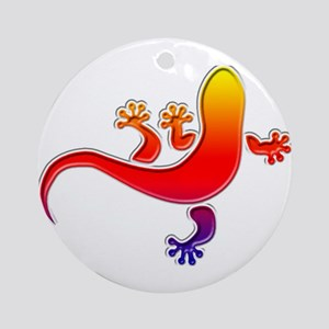Cool Gecko 3 Ornament (Round)