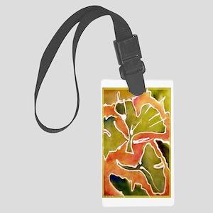Leaves! Autumn, Ginkgo leaf! Large Luggage Tag