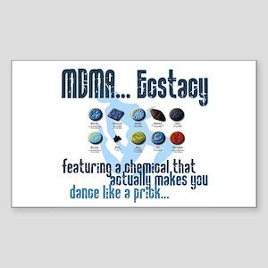 Ecstacy Rectangle Sticker