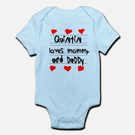 Quintin Loves Mommy and Daddy Infant Bodysuit
