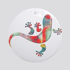 Cool Gecko 5 Ornament (Round)