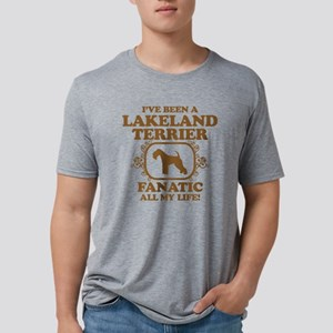 3-Lakeland-Terrier Mens Tri-blend T-Shirt