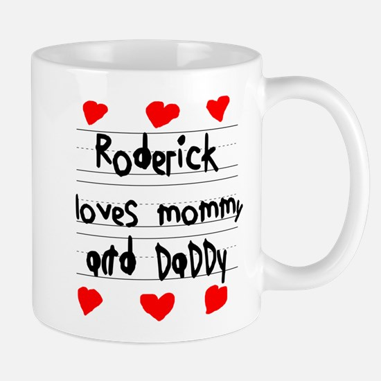 Roderick Loves Mommy and Daddy Mug