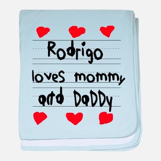 Rodrigo Loves Mommy and Daddy baby blanket