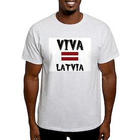 Viva Latvia Ash Grey T-Shirt