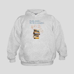 Books and music Kids Hoodie