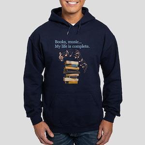 Books and music Hoodie (dark)