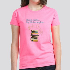 Books and music Women's Dark T-Shirt