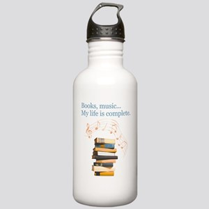 Books and music Stainless Water Bottle 1.0L