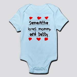 Samantha Loves Mommy and Daddy Infant Bodysuit