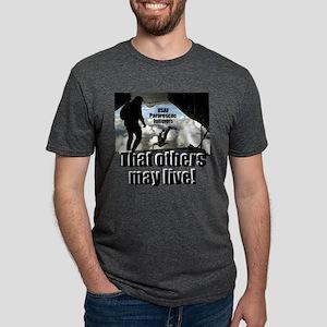 USAF PJs white t-shirt Mens Tri-blend T-Shirt