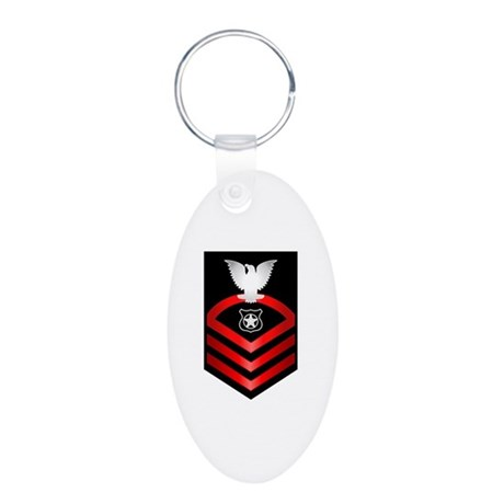 Navy Chief Master at Arms Aluminum Oval Keychain