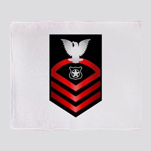 Navy Chief Master at Arms Throw Blanket