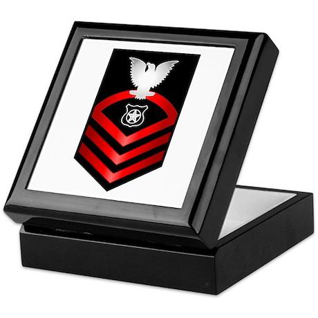 Navy Chief Master at Arms Keepsake Box