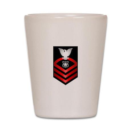 Navy Chief Master at Arms Shot Glass