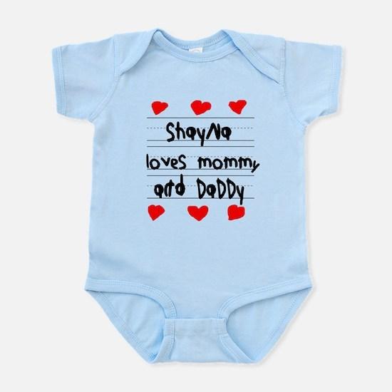 Shayna Loves Mommy and Daddy Infant Bodysuit