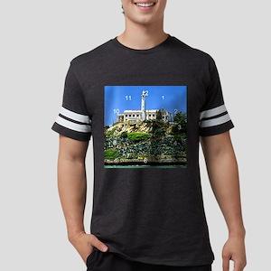 Alcatraz island clock Mens Football Shirt