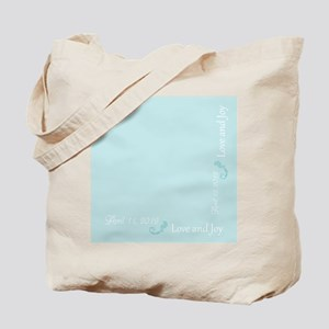 Customize - Love and Joy - Blue Tote Bag