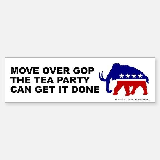 Move Over GOP Mammoth, Sticker (Bumper)