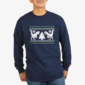 FUNNY! Ugly Holiday Dino Sweater Long Sleeve Dark