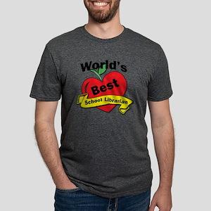 Worlds Best school Libraria Mens Tri-blend T-Shirt