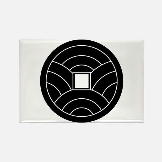 Wave coin Rectangle Magnet