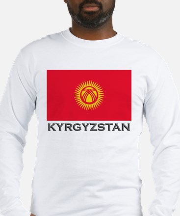 Kyrgyzstan Flag Stuff Long Sleeve T-Shirt