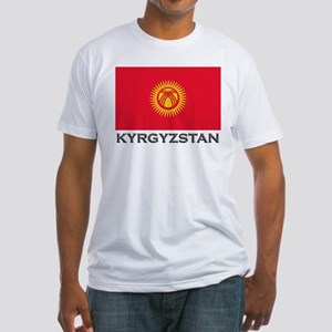 Kyrgyzstan Flag Stuff Fitted T-Shirt