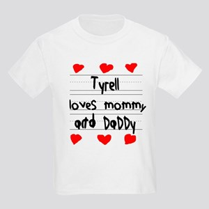 Tyrell Loves Mommy and Daddy Kids Light T-Shirt