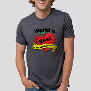 Worlds Best Paraprofessiona Mens Tri-blend T-Shirt