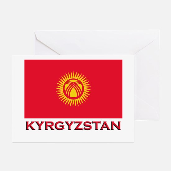 Kyrgyzstan Flag Merchandise Greeting Cards (Packag