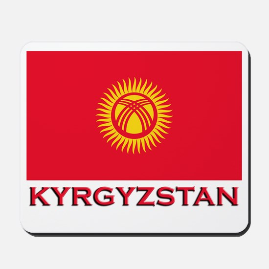 Kyrgyzstan Flag Merchandise Mousepad