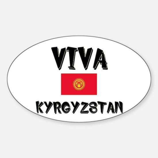 Viva Kyrgyzstan Oval Decal