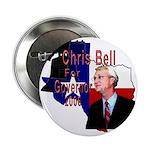 """ChrisBell, TX GOV 2.25"""" Button (10 pack)"""