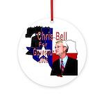 ChrisBell, TX GOV Ornament (Round)