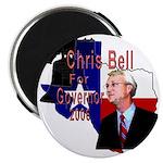 """ChrisBell, TX GOV 2.25"""" Magnet (100 pack)"""