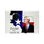 ChrisBell, TX GOV Rectangle Magnet (100 pack)
