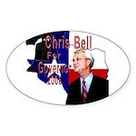 ChrisBell, TX GOV Oval Sticker