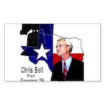 ChrisBell, TX GOV Rectangle Sticker