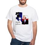 ChrisBell, TX GOV White T-Shirt
