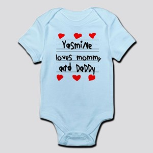 Yasmine Loves Mommy and Daddy Infant Bodysuit
