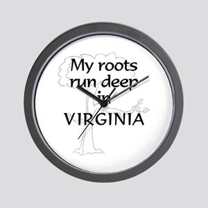 Virginia Roots Wall Clock