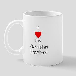 I Love My Australian Shepherd Mug